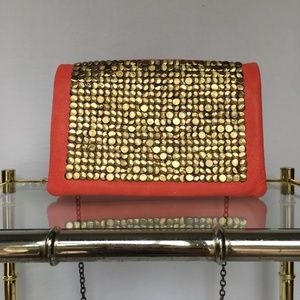Deena & Ozzy Vegan Leather Gold Coin Bag/ Clutch
